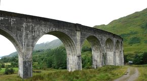Detail of the Glenfinnan Viaduct Stock Photography
