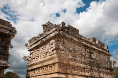Detail of God Chac carving at Nunnery in Chichen Itza Royalty Free Stock Photos