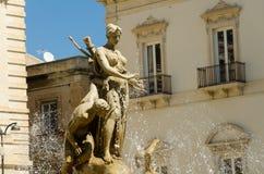 Detail of the Goddess Diana fountain Stock Photos
