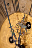 Detail of gold historic clock Royalty Free Stock Photos