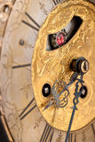 Detail of gold historic clock Stock Photos