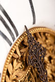 Detail of gold and white historic clock Royalty Free Stock Images