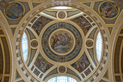Detail of a golden cupola Stock Images