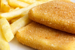 Detail of golden fried cheese Royalty Free Stock Photo