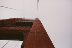 Detail of the Golden Gate Bridge Stock Images