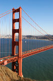 Detail of Golden Gate Bridge in San Francisco. California on a sunny afternoon Royalty Free Stock Photos