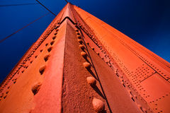 Detail of Golden Gate Bridge Tower Blue Sky Royalty Free Stock Photos