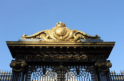 Detail of the golden gate at the justice palace in Paris Royalty Free Stock Image
