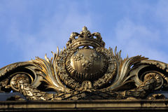 Detail of the golden gate at the justice palace in Paris Royalty Free Stock Photo