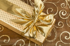 Detail of golden ribbon Stock Photos