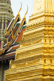 Detail of a golden stupa at Wat Phra Kaeo Royalty Free Stock Photos