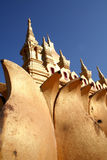 Detail of the golden temple Laos Royalty Free Stock Photos