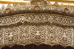 Detail of golden umbrella Stock Images