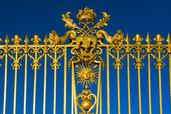 Detail of the golden Versailles palace, France. Royalty Free Stock Photo