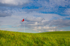 The detail of golf course and autumn landscape Stock Image