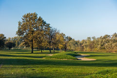 Detail from a golf course at autumn sunny day in Belgrade Royalty Free Stock Photography