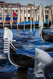 Detail of Gondolas in Venice Stock Photography