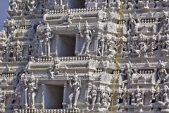 Detail of Gopuram Royalty Free Stock Photography