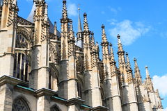 Detail of gothic architecture. Details gothic architecture of cathedral st. Barbara from Kutna Hora - Czech Royalty Free Stock Photography