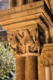 Detail of gothic capital in Se Velha royalty free stock photography