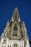 Detail of the Gothic cathedral in Regensburg, Germany Royalty Free Stock Photos