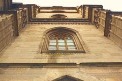 Detail of gothic church facade Royalty Free Stock Photo