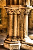 Detail of gothic column in Se Velha Royalty Free Stock Image