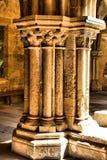 Detail of gothic column in Se Velha royalty free stock image