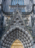 Detail of Gothic dome of Cologne cathedral in Cologne Stock Images