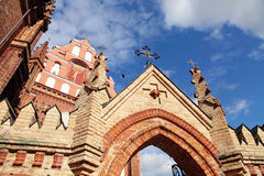 Detail of gothic St. Anne's Church and the Church of St. Francis Royalty Free Stock Photo