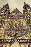 Detail of gothic St. Vitus Cathedral in Prague Stock Photography
