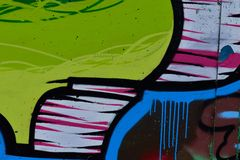 Detail of Graffiti on painted wall. Detail of Graffiti on the wall Stock Photos