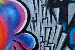 Detail of Graffiti on painted wall. Detail of Graffiti on the wall Royalty Free Stock Photo