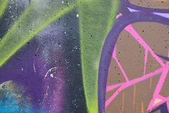 Detail of Graffiti on painted wall. Detail of Graffiti on the wall royalty free stock images