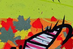 Detail of Graffiti on painted wall. Detail of Graffiti on the wall Royalty Free Stock Photography