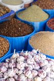 Detail of grain food on the market royalty free stock image
