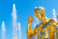 Detail of the Grand Cascade in Petrodvorets, Saint Petersburg, R Stock Images
