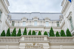 Detail of Grand Hotel Continental Building. Stock Photography
