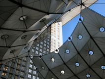 Detail of Grande Arche. At Paris district Defence royalty free stock image