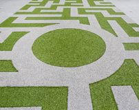 Detail of a grass labyrinth stock image