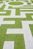 Detail of a grass labyrinth Royalty Free Stock Images