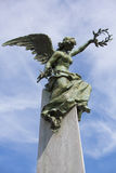 Detail of grave in la Recoleta Cemetery with blue sky Stock Photography