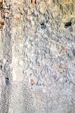 Detail of the gray concrete wall Royalty Free Stock Photos
