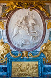 Detail in Great Hall Ballroom in Versailles. Palace Paris France royalty free stock photo