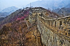 Detail of The Great Wall of China in HDR Stock Images