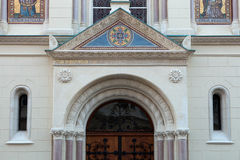 Detail from the Greek Catholic Church in Zagreb Stock Photography