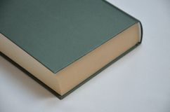 Detail of Green Book. On the grey background Royalty Free Stock Image