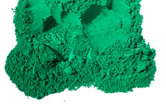 Detail of green color for holi. Green color  sale in india on the occasion of holi (holli)festival Stock Photography