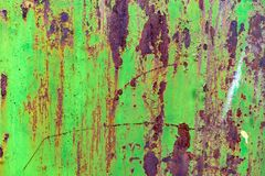 Grunge texture of green rusty metal with scratches royalty free stock photos