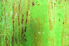 Grunge texture of green rusty metal with scratches stock photos